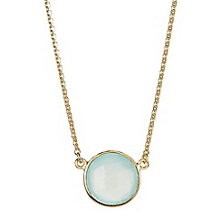 The Genuine Gemstone Company - Blue chalcedony vermeil necklace 3.55cts