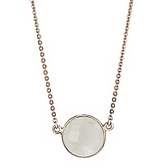 The Genuine Gemstone Company - White moonstone rose gold vermeil necklace 3.5