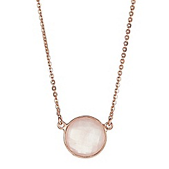 The Genuine Gemstone Company - Pink quartz rose gold vermeil necklace 3.09ct