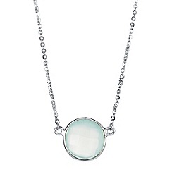 The Genuine Gemstone Company - Blue chalcedony sterling silver necklace 3.41