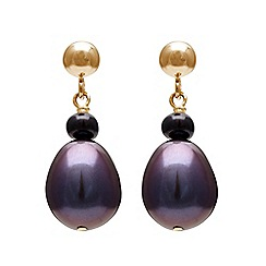 Kyoto Pearl - Black pearls earrings