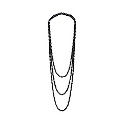 Kyoto Pearl - Black pearls necklace