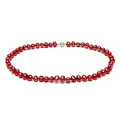 Kyoto Pearl - Red pearls necklace