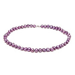 Kyoto Pearl - Light purple pearls necklace