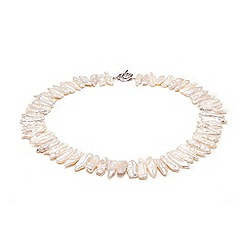 Kyoto Pearl - White biwa stics pearls necklace