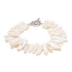 Kyoto Pearl - White biwa pearls bracelet