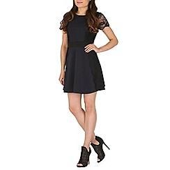 Mela - Navy lace sleeves dress