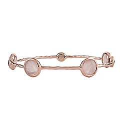The Genuine Gemstone Company - Pink quartz rose gold vermeil bangle 10.59cts