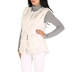 Mela - Cream cream fur gilet