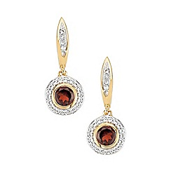 The Genuine Gemstone Company - Red garnet vermeil earrings 2.06cts