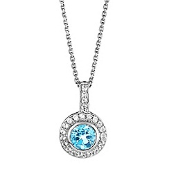 The Genuine Gemstone Company - Blue topaz sterling silver necklace