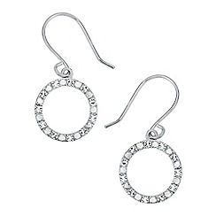 The Genuine Gemstone Company - Silver 0.27cts diamond sterling earrings