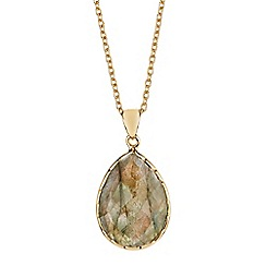 The Genuine Gemstone Company - Grey labradorite vermeil necklace