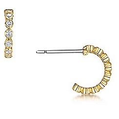 Buckley London - Gold tennis hoop earring