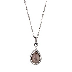 Buckley London - Silver shell pearl drop pendant