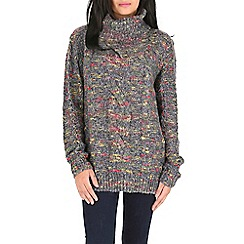 Mela - Multicoloured turtle neck pullover