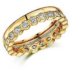 Buckley London - Gold friendship stacker ring