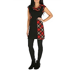 Izabel London - Red tunic dress with patches print