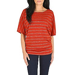 Izabel London - Bronze stripes top