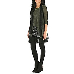 Izabel London - Olive polka dot layered top