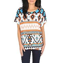 Izabel London - Orange patterned top