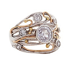 Banyan - Gold seven zirconias ring