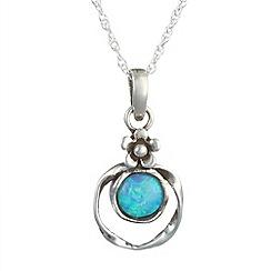 Banyan - Silver blue opalite pendant