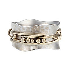 Banyan - Silver brass and gold detail ring