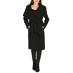 Amaya - Black belted soft trench coat