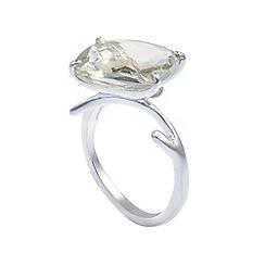 Banyan - Silver green amethyst ring,