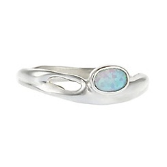 Banyan - Silver opalite set in a flowing silver band ring