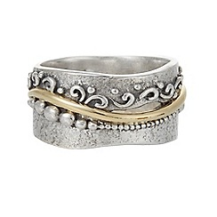 Banyan - Silver band with brass flourish