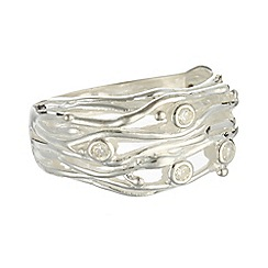 Banyan - Silver stranded ring with zirconia