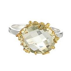 Banyan - Silver green amethyst ring, silver