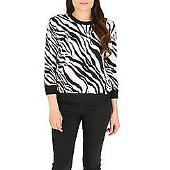 Madam Rage - Black zebra jumper