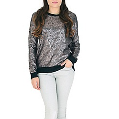 Madam Rage - Metallic cracked metallic jumper