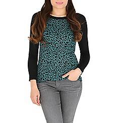 Madam Rage - Green leopard print jumper