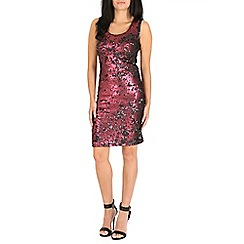 Amaya - Wine sequin dress