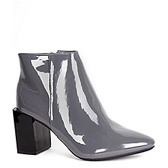 Alice & You - Grey patent ankle boot