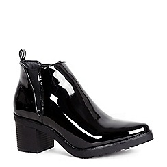 Alice & You - Black patent heeled ankle boot