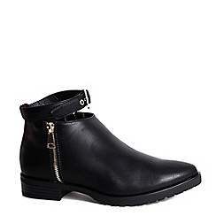 Alice & You - Black zip up ankle boot