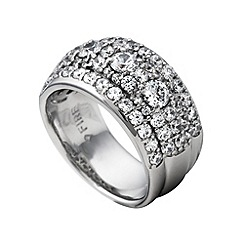 Diamonfire - Silver crafted stone ring