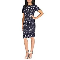 Sugarhill Boutique - Navy julie stag print shift dress