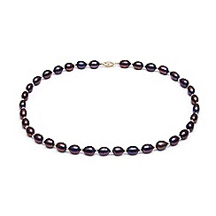 Kyoto Pearl - Black freshwater pearls necklace