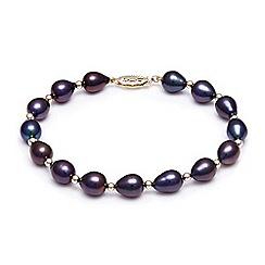 Kyoto Pearl - Black freshwater pearls bracelet