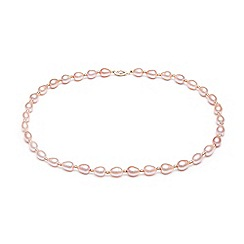 Kyoto Pearl - Pink freshwater pearls necklace