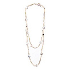 Kyoto Pearl - White rope freshwater necklace