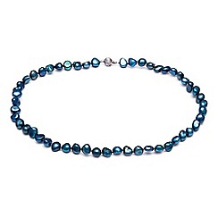Kyoto Pearl - Blue baroque pearls necklace