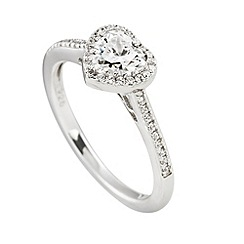 Diamonfire - Silver signitures intricate cluster ring