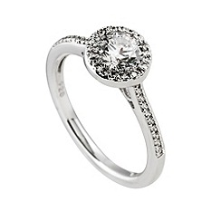 Diamonfire - Silver signitures cubic zirconia ring
